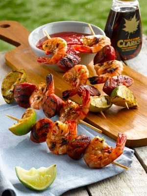 Prawn and chorizo skewers- Perfect recipe for a weekend BBQ with the Family Kebabsolutely Delicious :-)