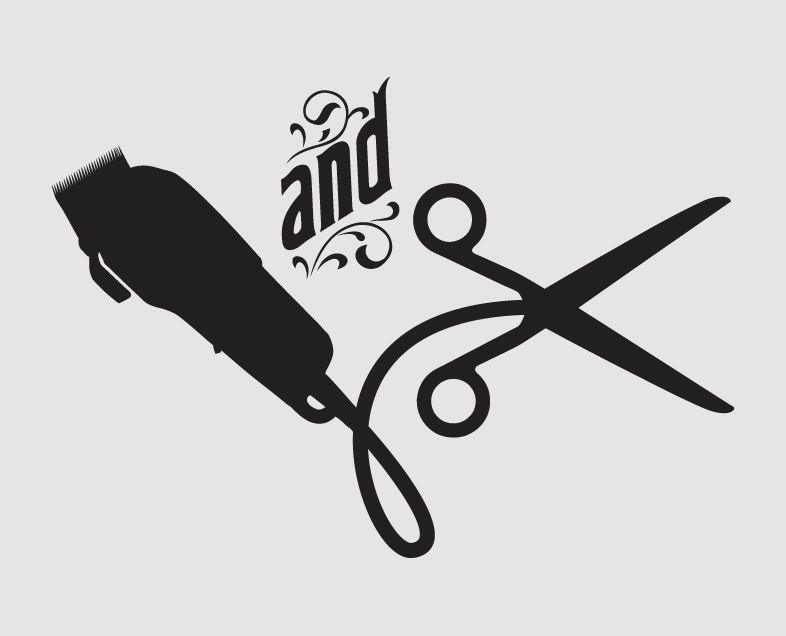 Businesses Need Barbers Too Shop Logo Clip Art Hair Logo
