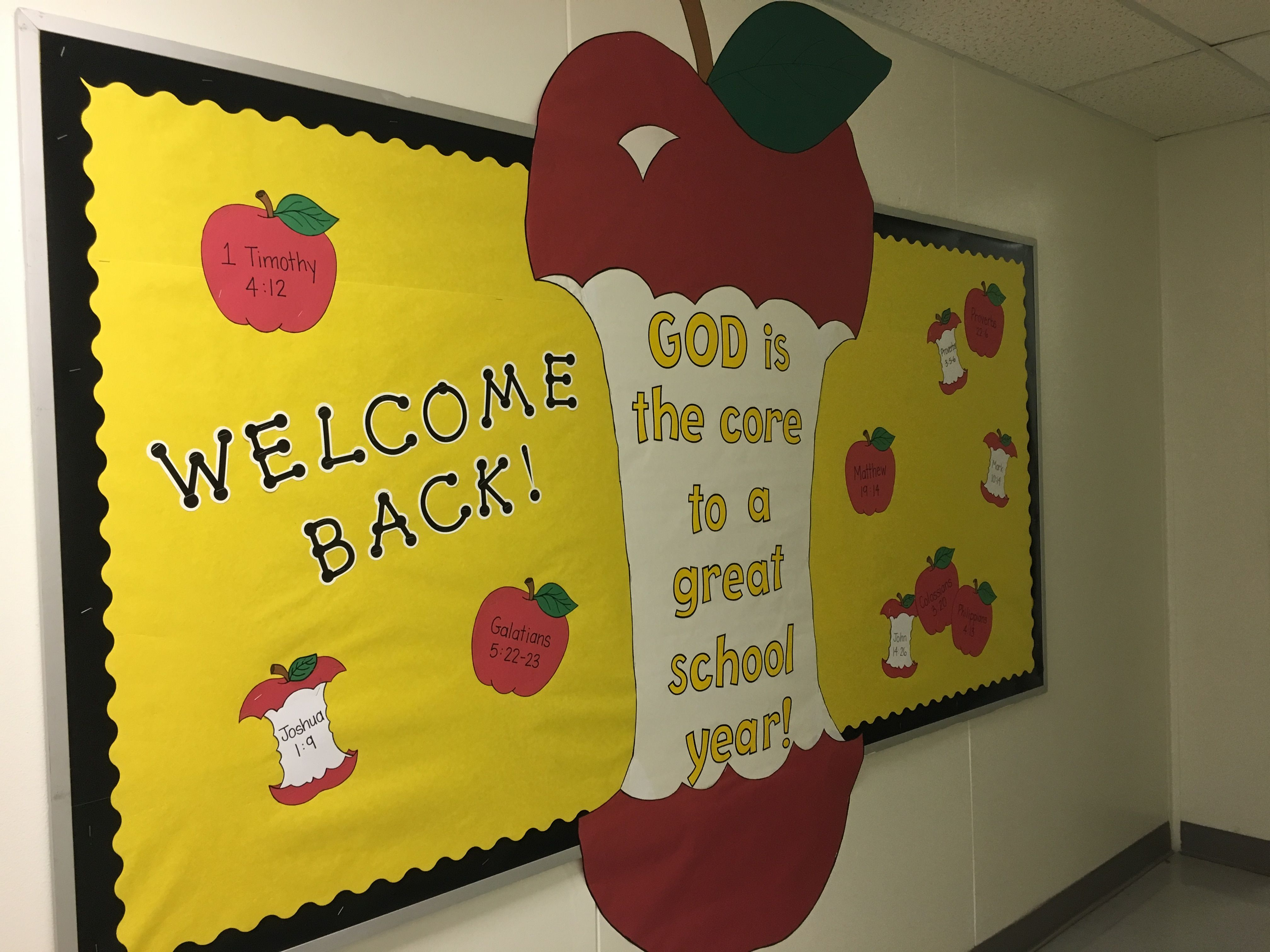 Back To School Bulletin Board For Heritage Christian Academy With