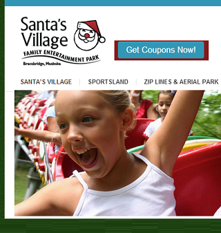 Santa S Village Canada Coupons 5 Admission Discounts Santa S Village Coupons Canada Village