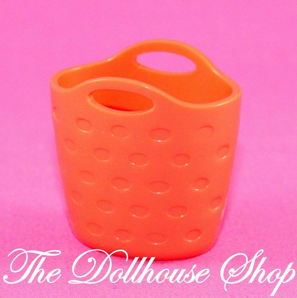 New Fisher Price Loving Family Dollhouse Orange Clothes Laundry Washing Basket Loving Family Dollhouse Washing Basket Playskool Dollhouse