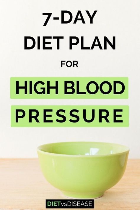 7-Day Diet Plan For High Blood Pressure (Dietitian-Made) High