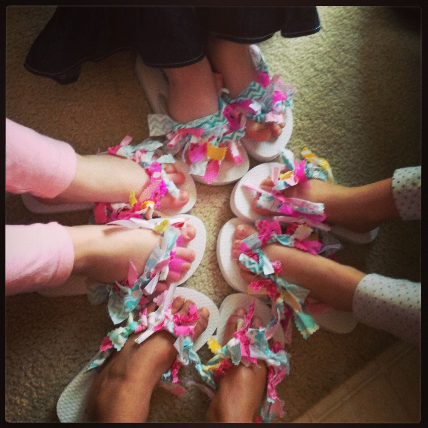 Flip Flops The Girls Made At Rylie's Spa Party