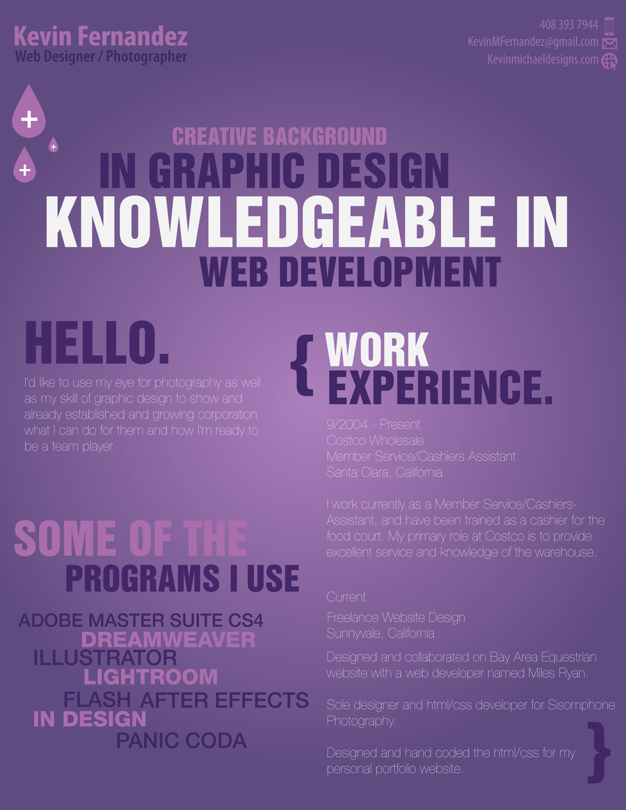 Creative Resume First Edition By NikonD50 On DeviantART