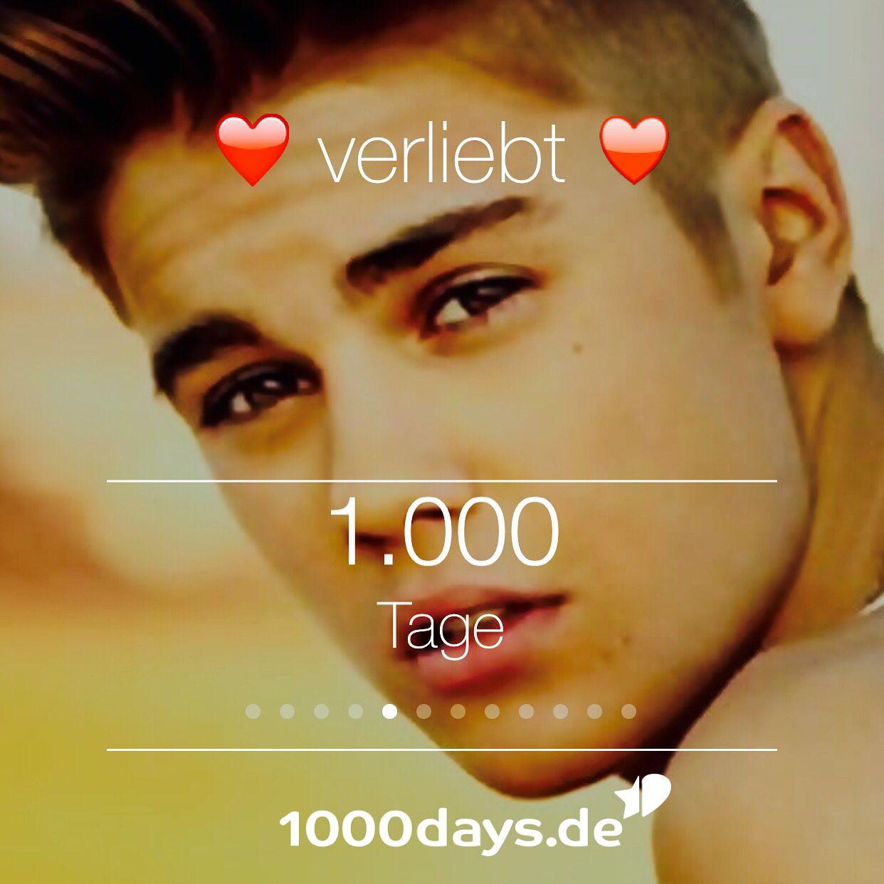 Verliebt in Justin! Seit 1000 Tagen ;-) berechnet mit ...