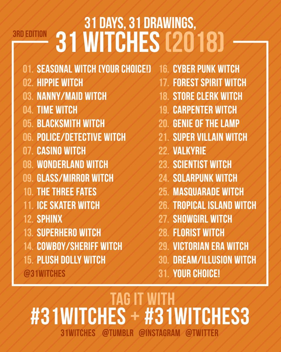 Hashtag 31witches No Twitter Drawing Challenge Art Prompts 30
