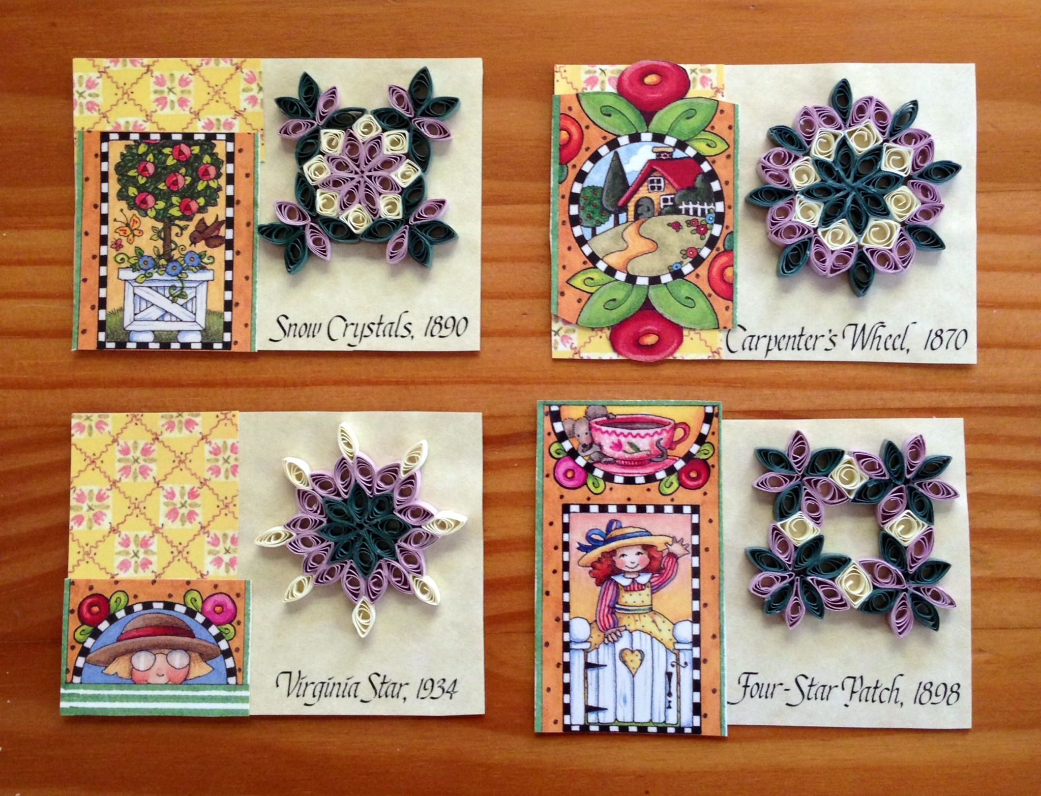 By Katrina Robinson- ATC card with quilling :)