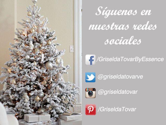 ¡Síguenos en nuestras redes sociales!  Facebook: https://www.facebook.com/GriseldaTovarByEssence  Twitter: https://twitter.com/griseldatovarve  Instagram: http://instagram.com/griseldatovar  Pinterest: http://www.pinterest.com/griseldatovar/  #GriseldaTovar #Moda #Mujeres #RedesSociales #Navidad2014
