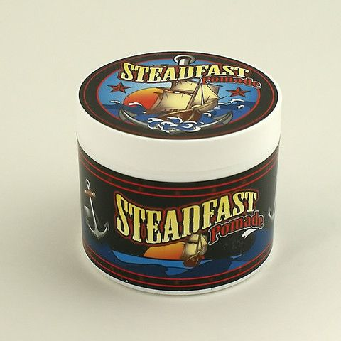 Steadfast Pomade 4oz:Steadfast Pomade writes, Steadfast has been formulated to allow you to mold your hair to your desired style, with the ability to re-style if needed throughout the day, while still maintaining it's hold. Our Pomade is a medium plus hold, has a nice shine, subtle rugged scent, nice clear blue color and it is completely washable. No need for any... $10.00