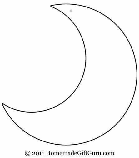 Crescent Moon Pattern. Use The Printable Outline For Crafts