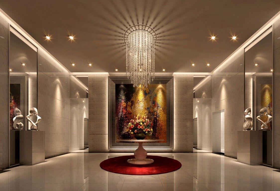 house entrance interior design. European style villa entrance decoration  Download 3D House