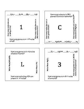 Intro To Stoichiometry Puzzle Version A With Images Chemistry