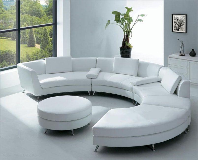 White Room Room Furniture Round Sofa White Sofa Furniture
