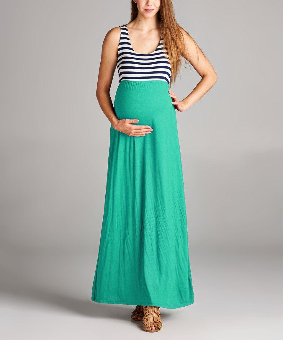 Look at this zulilyfind hello miz mint navy stripe empire look at this hello miz mint navy stripe empire waist maternity maxi dress by hello miz maternity ombrellifo Image collections