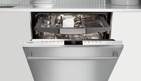 The Bosch 800 Plus Dishwasher Is Taking Dishwashing To New Heights With The Third Rack The Third Rack Accommodates 30 More Loadin Diy Kitchen Remodel Stainless Steel Dishwasher Quiet Dishwashers