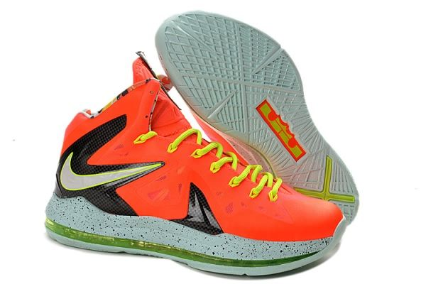 Nike Air Max LeBron James X Elite Series Orange Basketball shoes