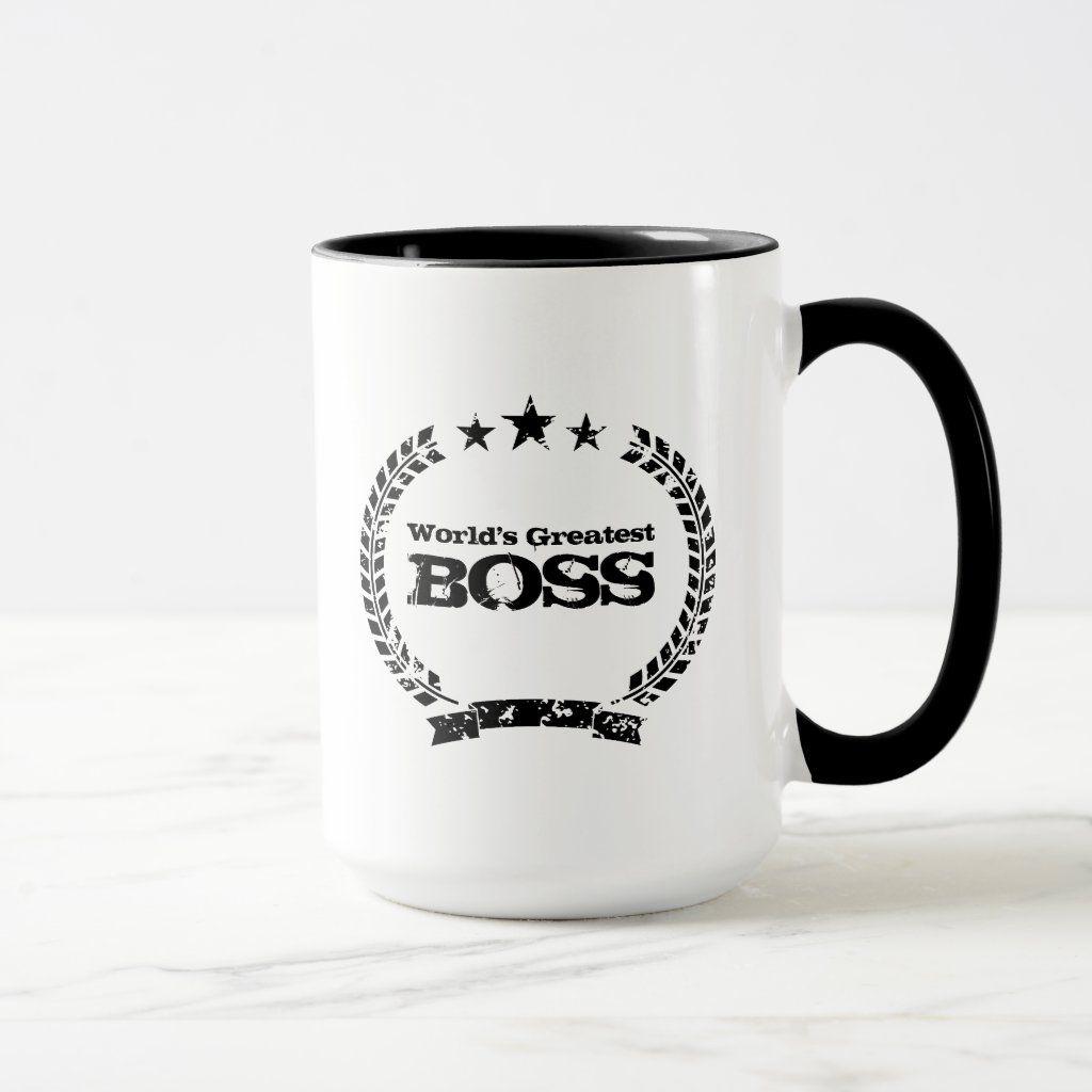 World'S Greatest Boss Vintage Coffee Mug - Custom Mugs - Create...