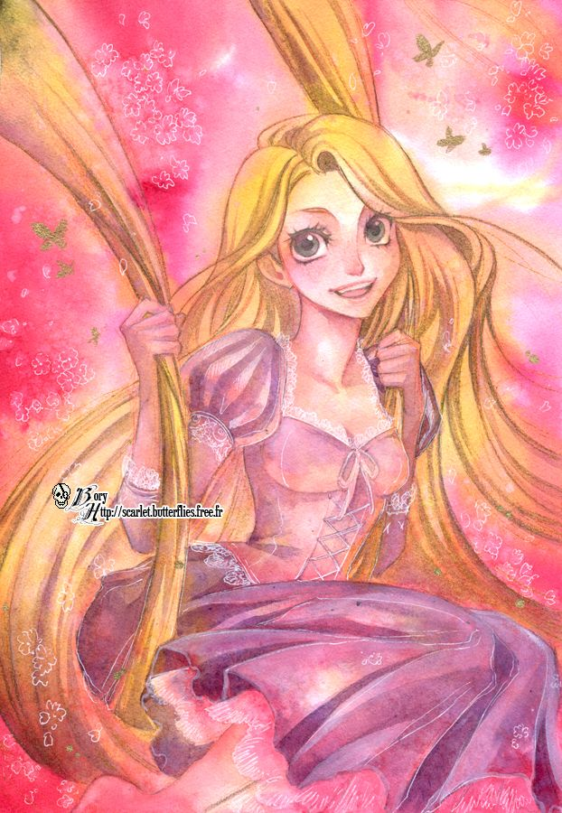 Tags: Anime, Rapunzel, Rapunzel (Character), Tangled (Disney), Rapunzel (Tangled), Borychan