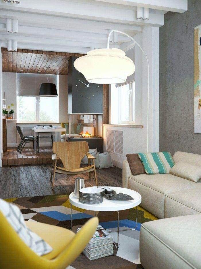 Awesome Moderne Einrichtungsideen Wohnzimmer Gelber Sessel Ecksofa Offener  Wohnplan | Hair | Pinterest.