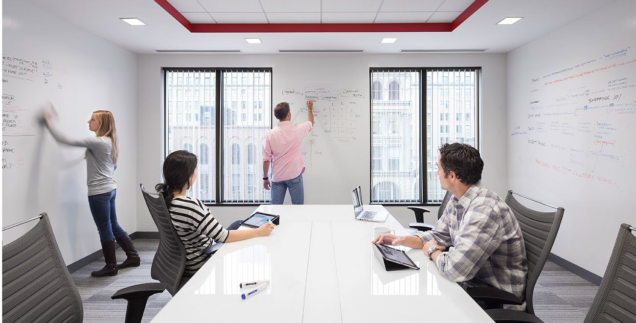 Transparent paint that makes your wall a whiteboard.