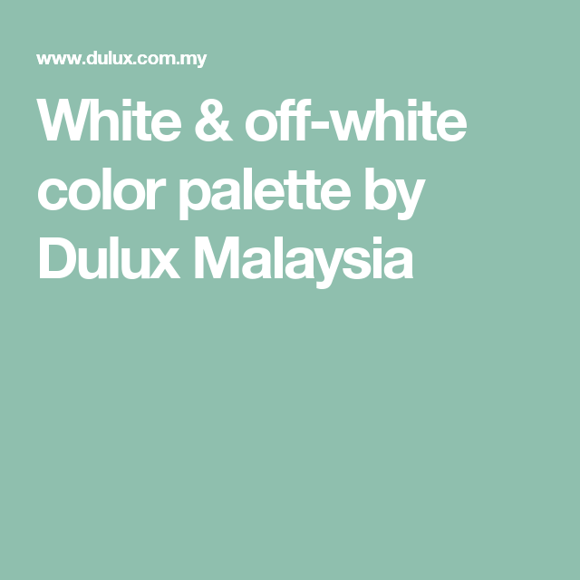Lovely Color Combination with Off White