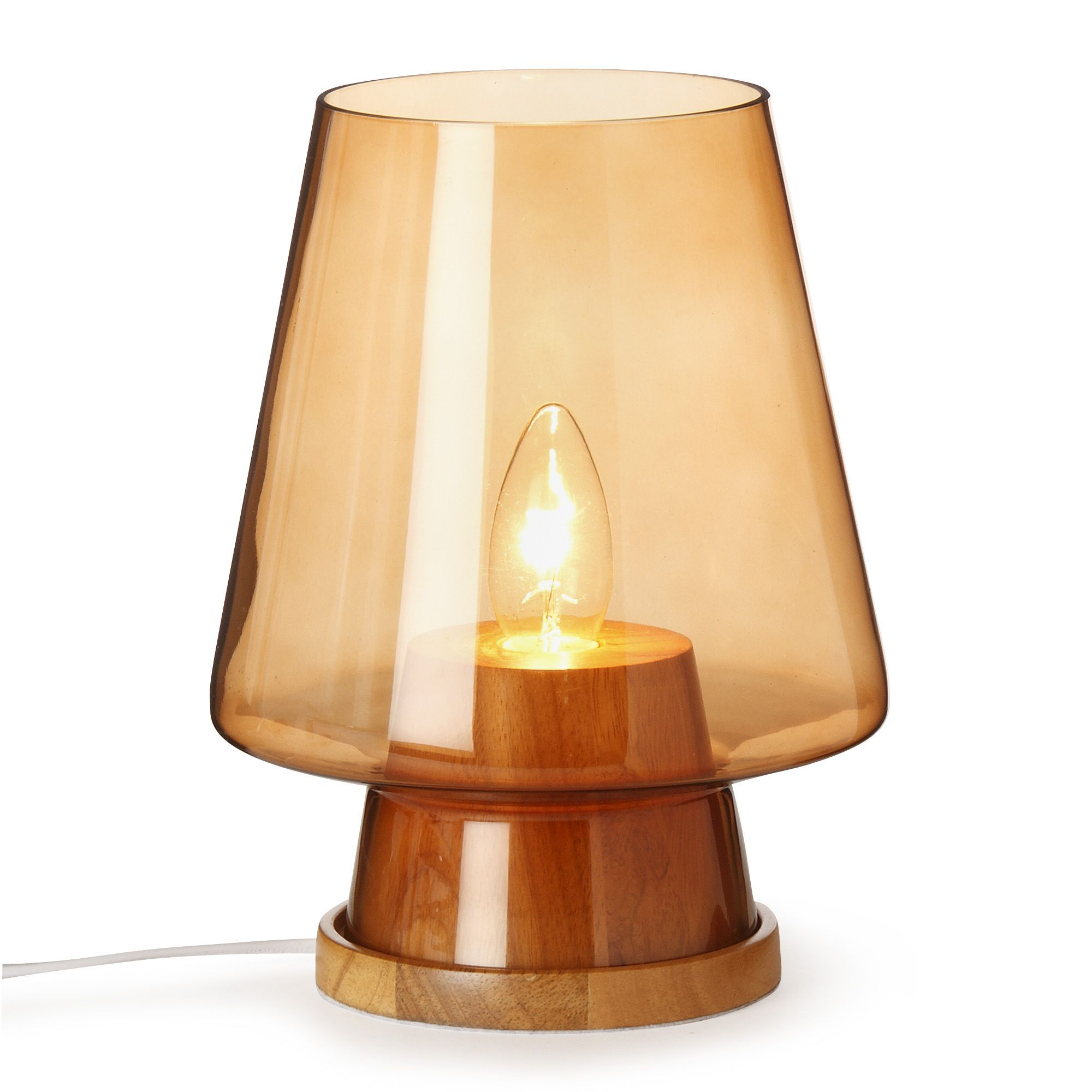 Lampe  poser VERRE FUMé H25cm Swan Lampes  poser Luminaires