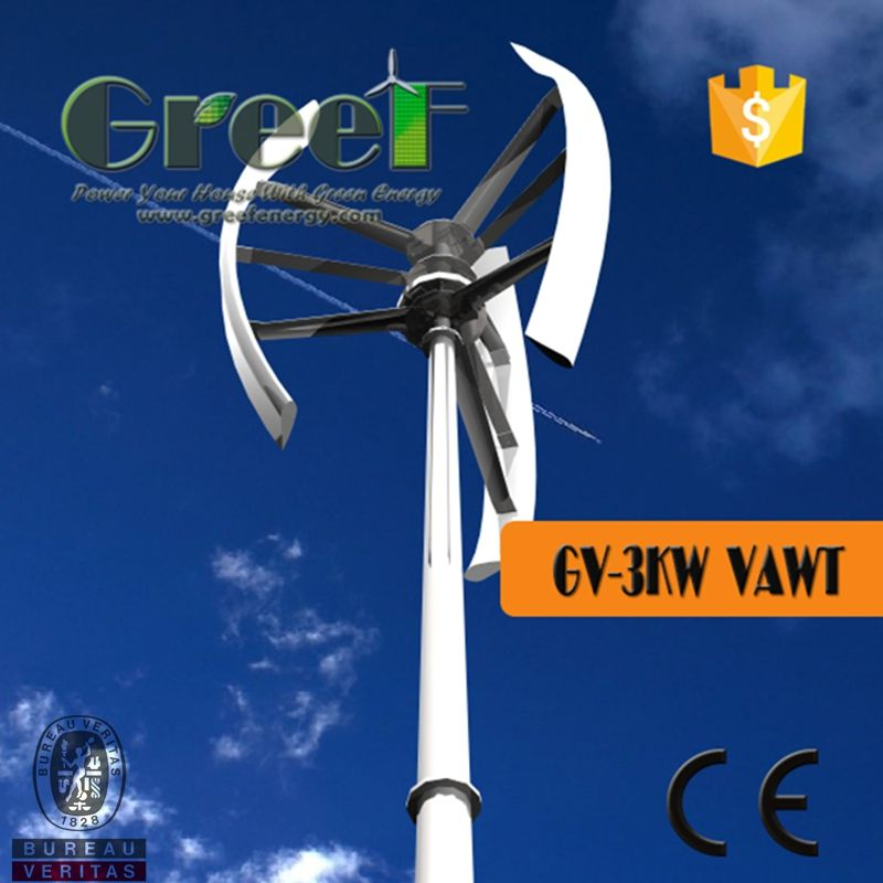 Small Wind Turbine For Home Use Part - 50: 3kw Vertical Wind Generator With Low Rpm For Home Use - China Vertical Wind  Turbine,