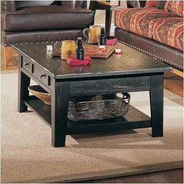 3397 01b Broyhill Furniture Attic Heirlooms Rectangular Cocktail Table    Black