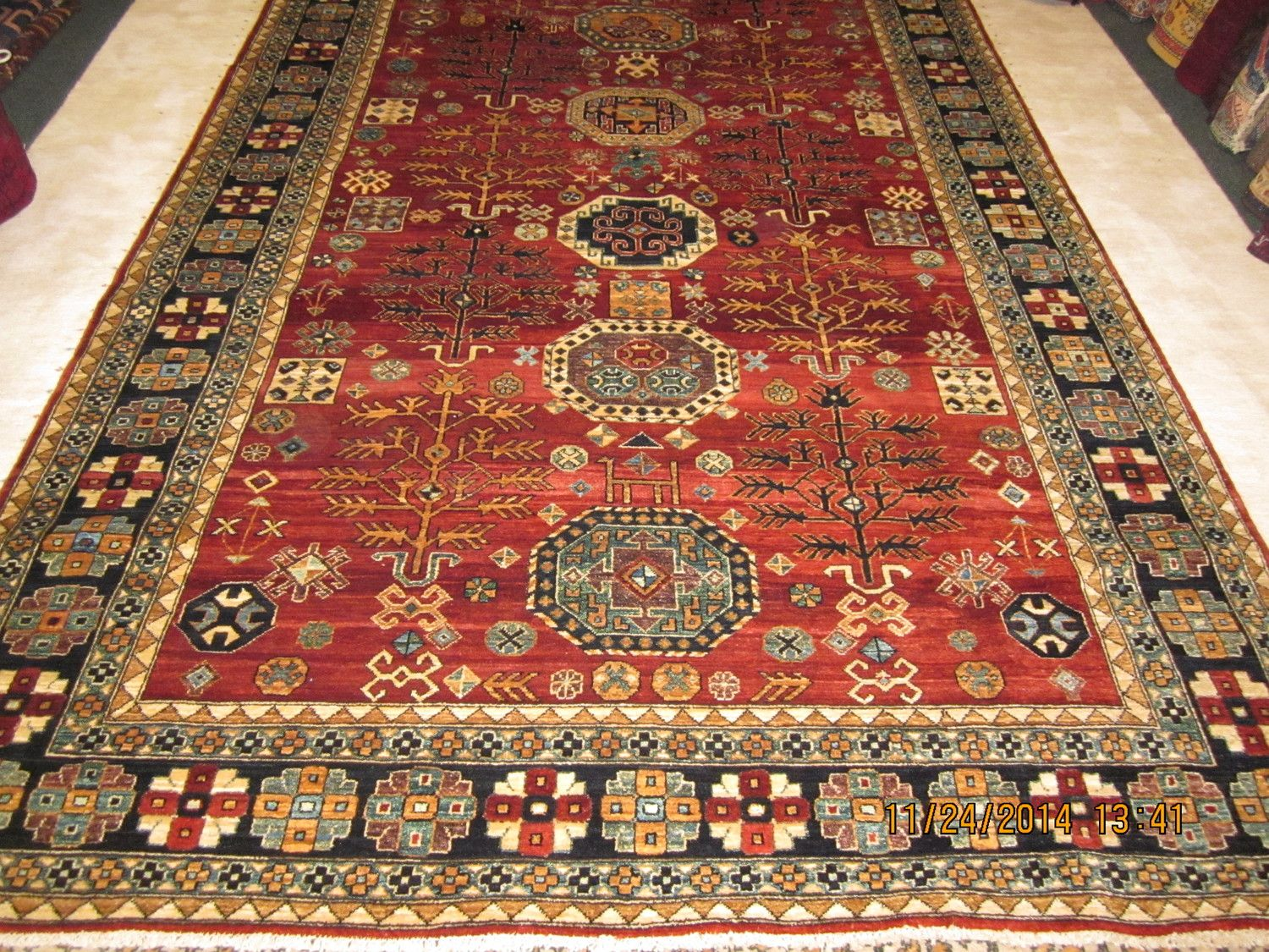 39 6 X 9 Kazak In Living Color Gorgeous Rug And One Of My Favorites Woven In Afghanistan Persian Rug Designs Oriental Rug Oriental Persian Rugs
