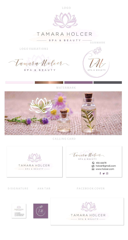 Branding kit logo design Lotus flower logo Water lily