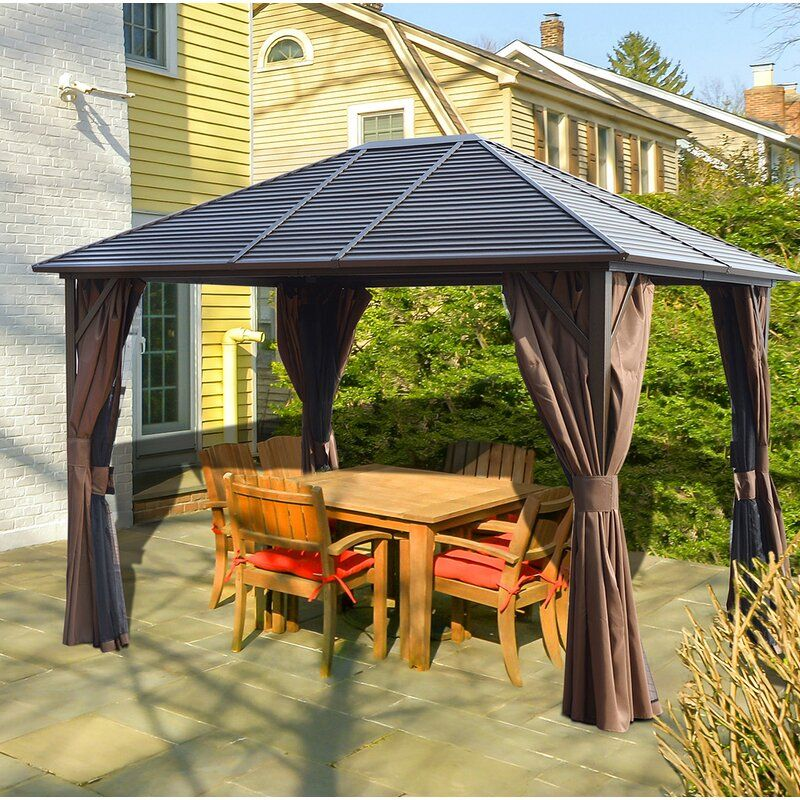 Windermere 10 Ft W X 12 Ft D Aluminum Patio Gazebo Backyard Gazebo Patio Gazebo Permanent Gazebo