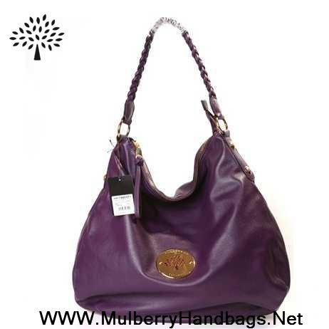 Womens Mulberry Daria Leather Shoulder Bag Purple Sale Online