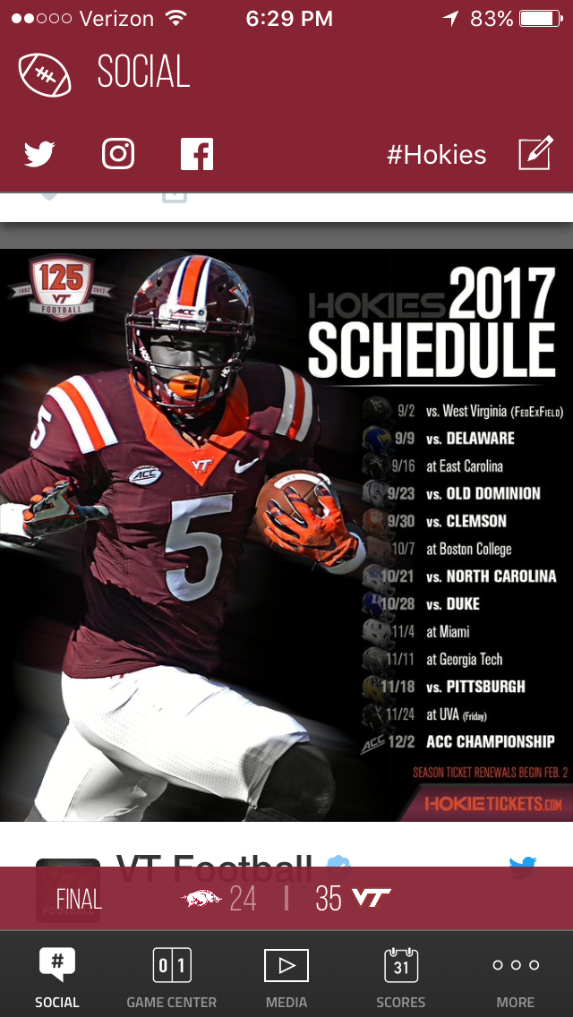 Pin By Paul D On Hokie Nation Virginia Tech Football Va Tech