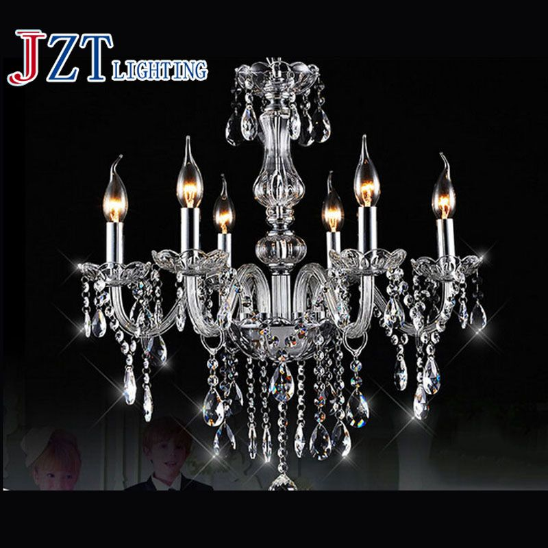 Details about Muranese chandelier in Murano glass 6 lights crystal and multicolor flowers