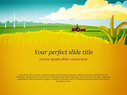 idyllic farm landscape powerpoint template backgrounds 14834
