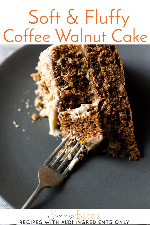 Make Soft & Fluffy Coffee And Walnut Cake Step By Step