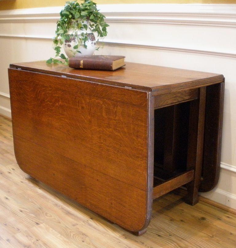 Antique Folding Table Large Antique English Oak Drop Leaf Gate