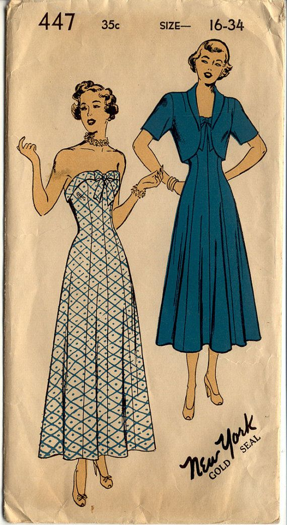 1940s Dress Pattern New York Gold Seal