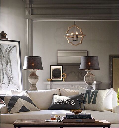 Sherwin Williams Functional Gray Pottery Barn Living