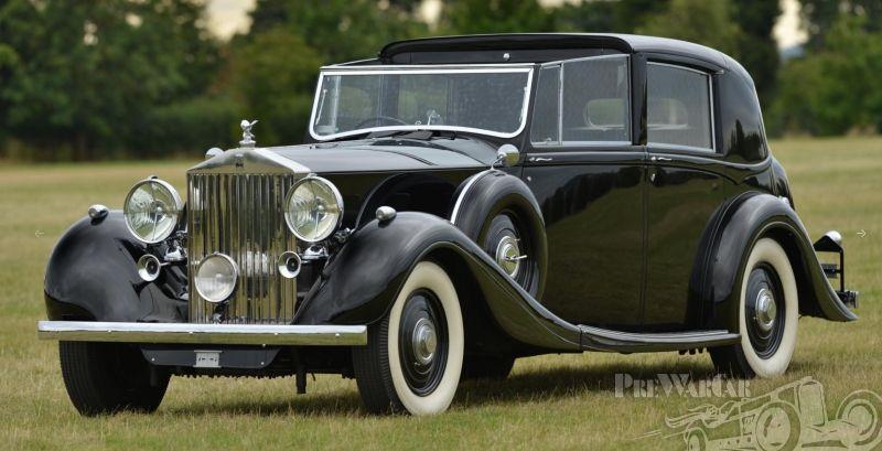 1939 Rolls Royce Phantom Phantom Iii Hooper Crocodile Roof Sedanca