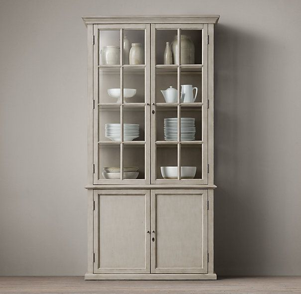 Unique Black China Cabinet with Glass Doors