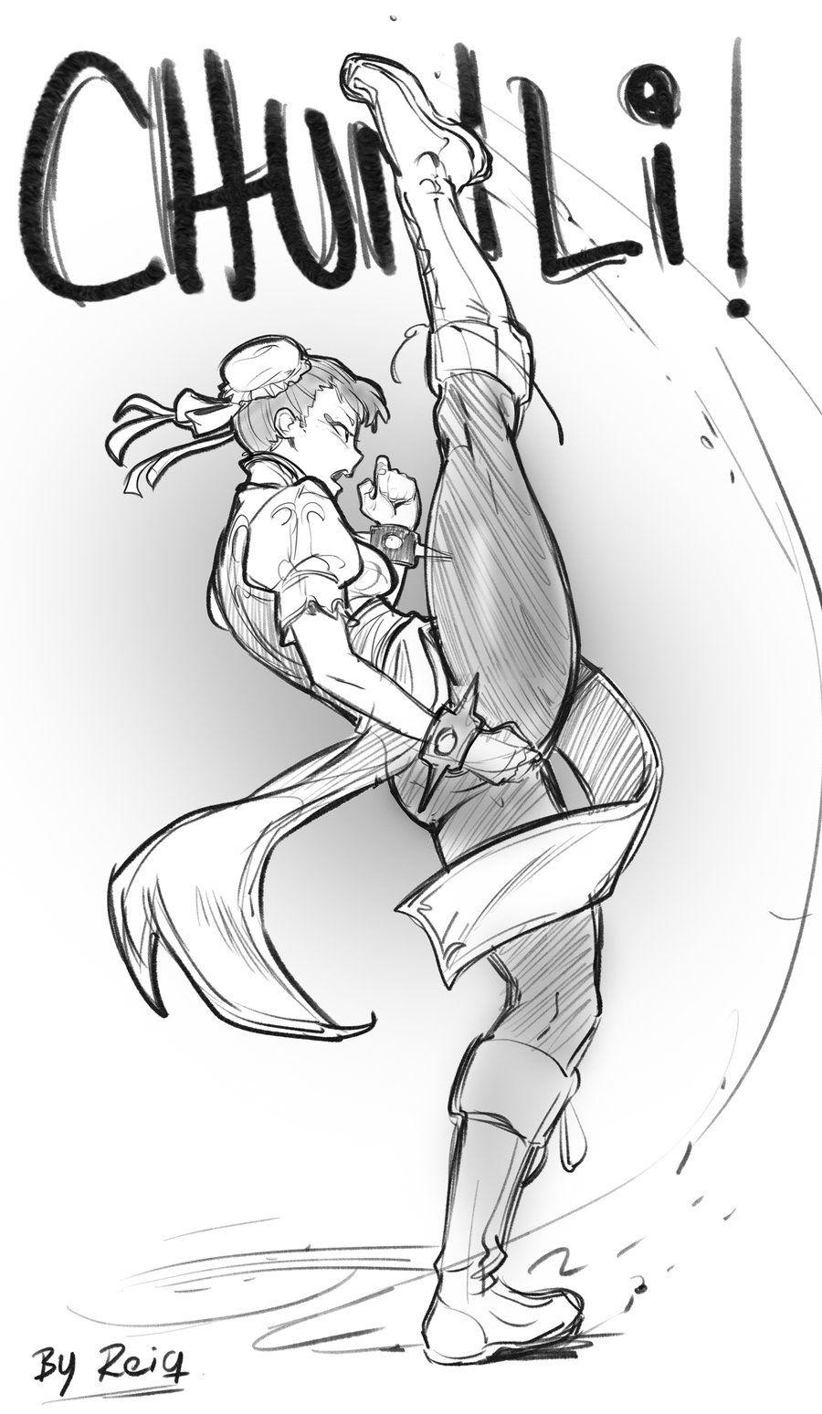 Street Fighter Chun Li Kicks By Reiq Desenhos Incriveis