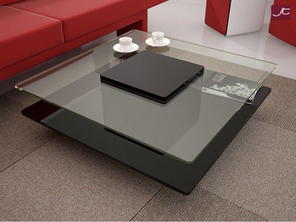 Black Square Coffee Table Rotating Contemporary Modern Living Room F Contemporary Modern Living Room Furniture Modern Furniture Living Room Coffee Table Square