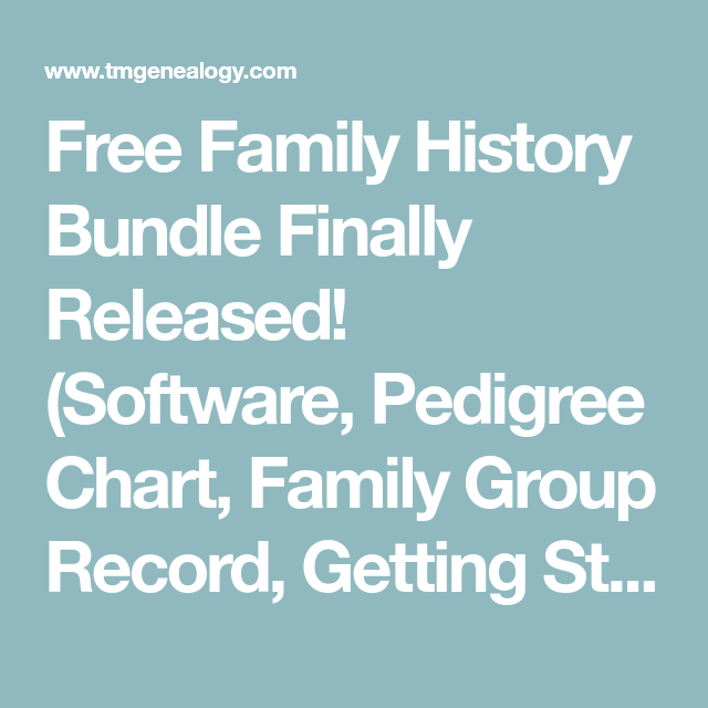 Free Family History Bundle Finally Released! (Software