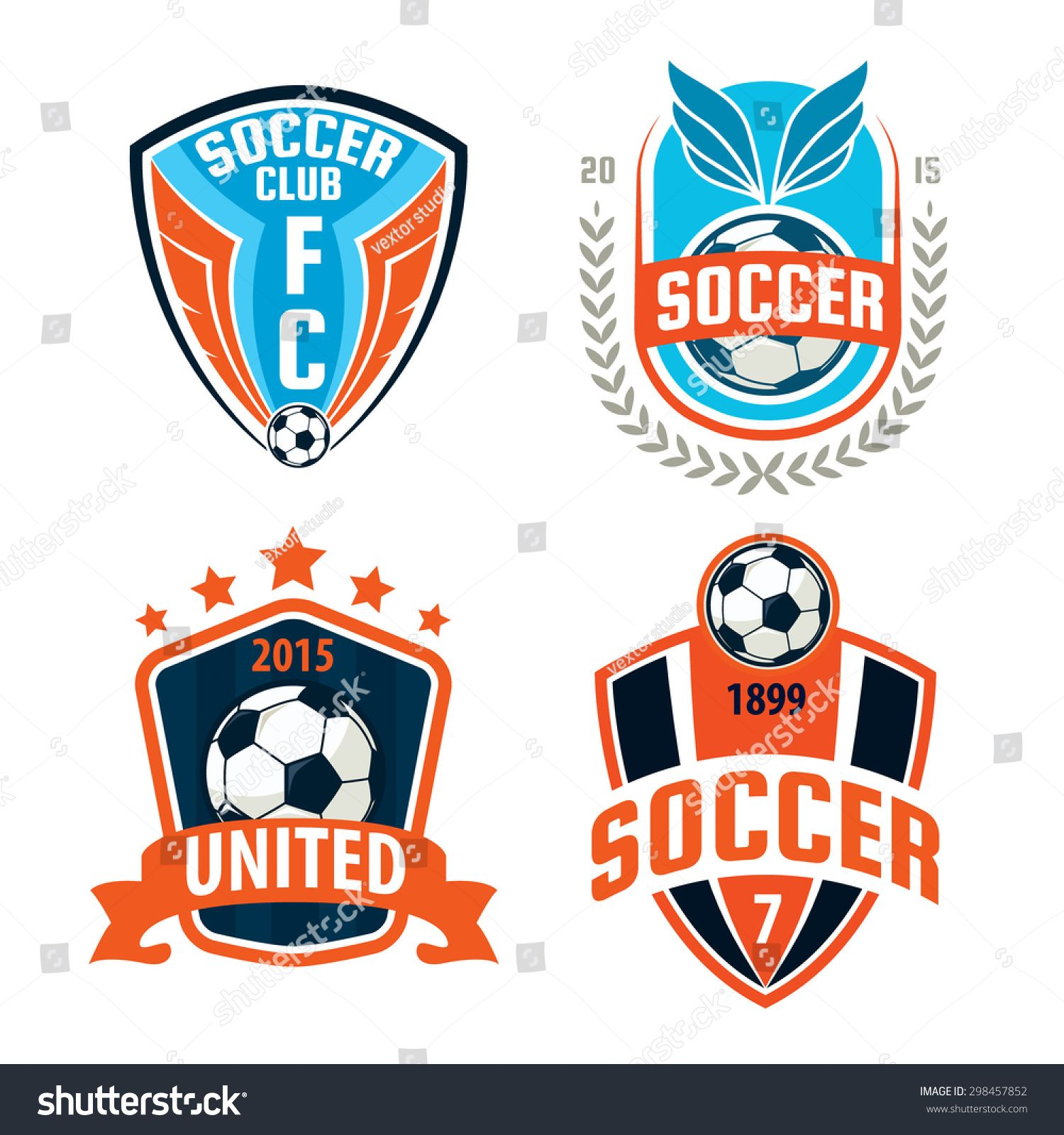 Football Badge Logo Template Design Soccer Team Vector Illustration Football Logo Design Sports Logo Design Football Logo