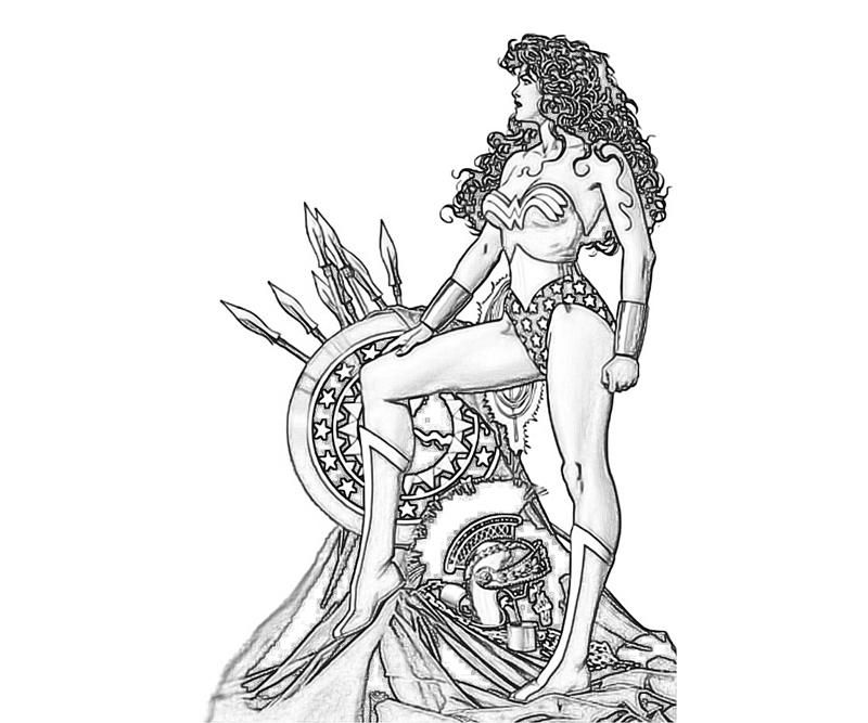 Injustice Gods Among Us Wonder Woman Weapon Coloring Pages
