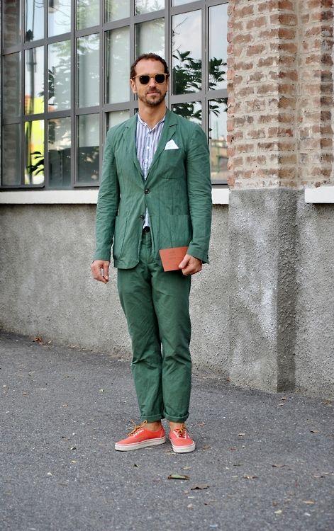 In On Street MilanCostume The Homme Vert Vert nOPN80kZwX