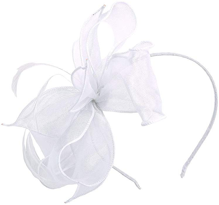 2f6dda59 Felizhouse Fascinator Hats for Women Ladies Feather Cocktail Party Hats  Bridal Headpieces Kentucky Derby Ascot Fascinator