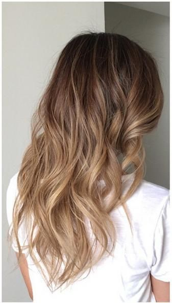 subtle brunette ombre highlights - sombre