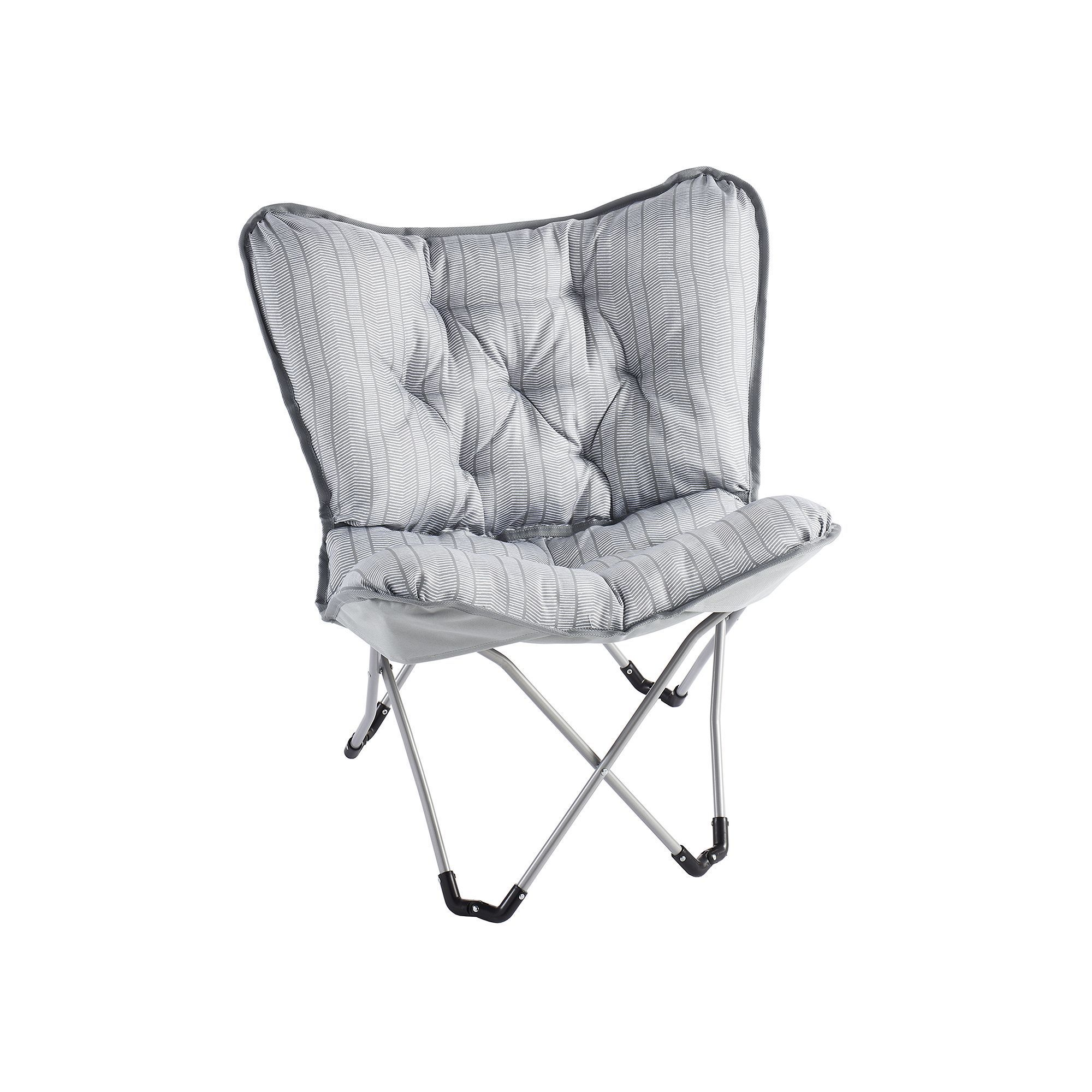 Simple By Design Memory Foam Butterfly Chair Med Grey Products